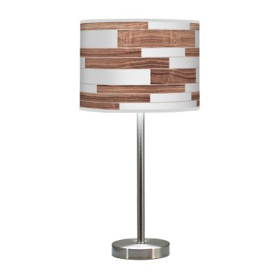 tile printed shade hudson table lamp walnut